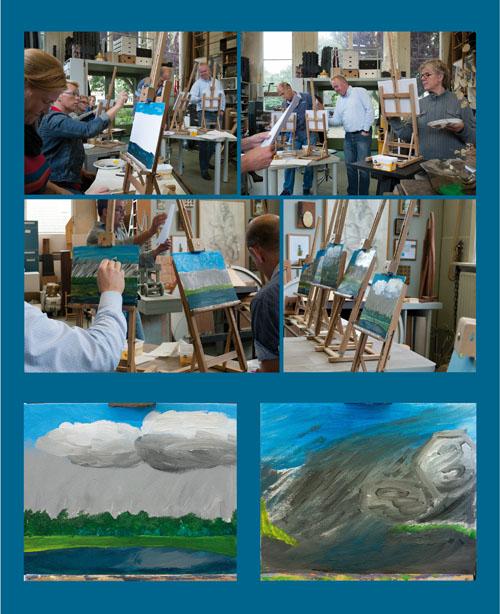 Schilderdictee in het atelier van Marcel Prins