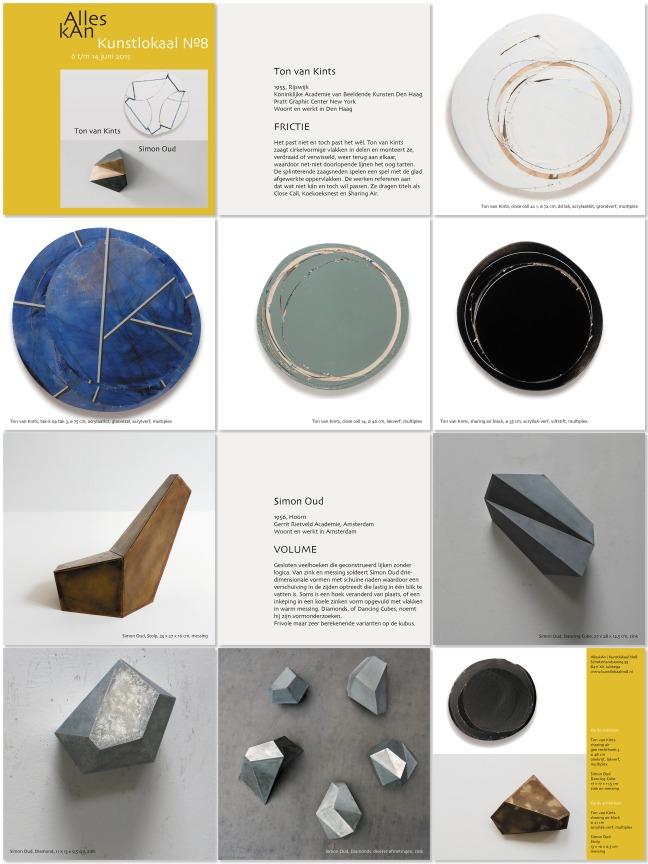 De bladzijden van het boekje bij de tentoonstelling Ton van Kints | Simon Oud