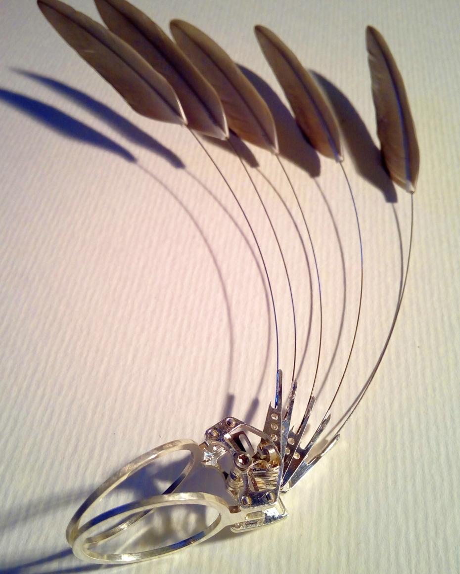 fethering puur zilver eend