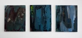 Nies de Vuijst, Drieluik, , Zonder titel, acryl op linnen, 50 x 40 cm elk