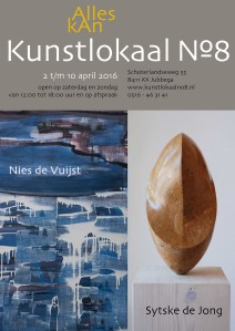 Affiche tentoonstelling Nies de Vuijst | Sytske de Jong