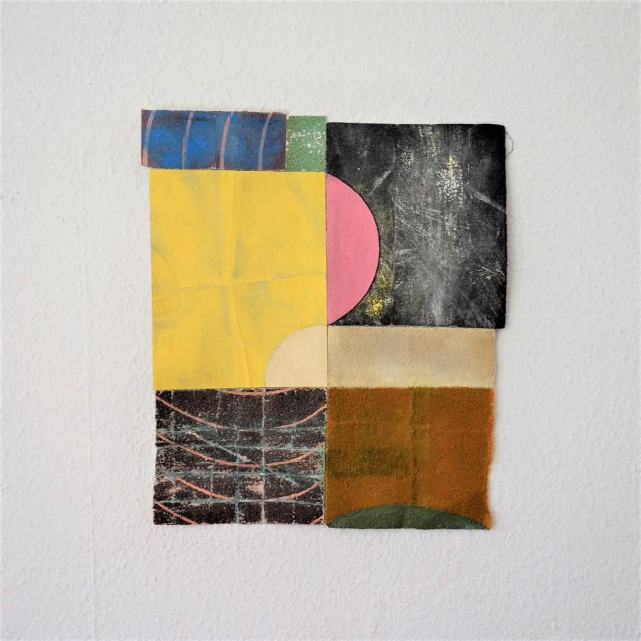 Marian Bijlenga kleurstudie 2018 schuurpapier, 27 x 23 cm