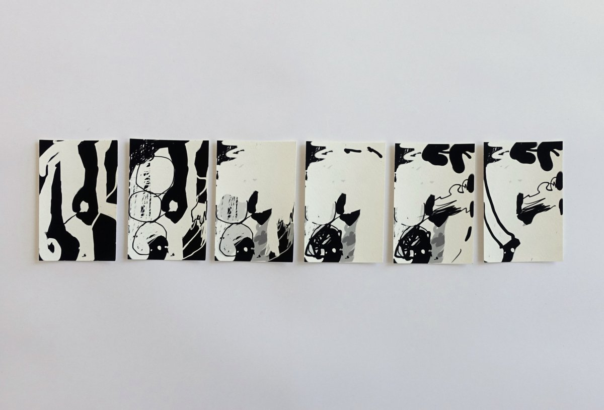 #4 Barbara Bartlett (NYC), serie Continuous Drawing, digitale tekeningen afgedrukt met pigmentinkt op zuurvrij katoenpapier, 9 x 6,5 cm per tekening, series van 3 tot 56 exemplaren