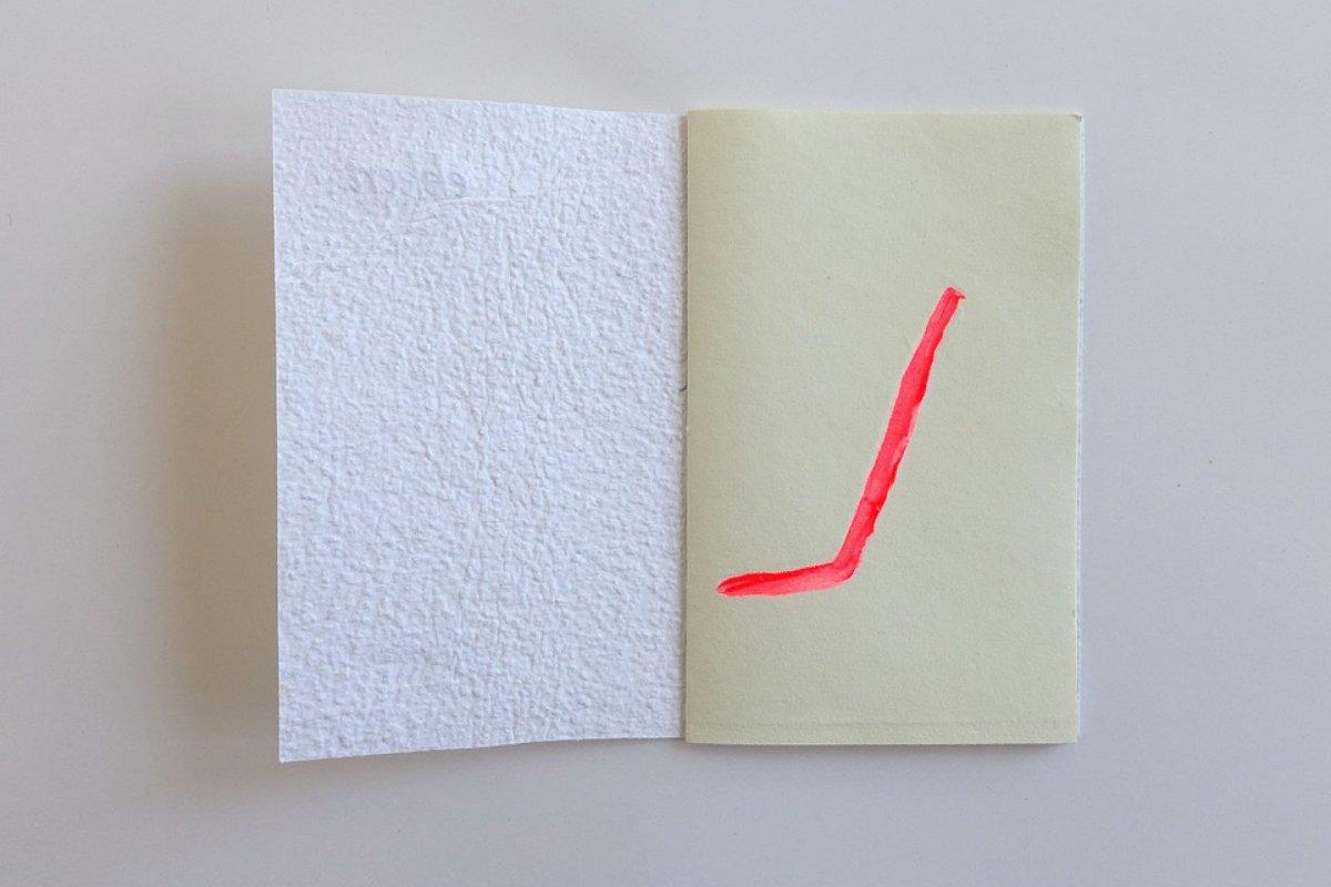 #5 Wilma Vissers, Ekkert (IJslands: niets), boekje, blinddruk, gouache, typografie op katoen- en etspapier