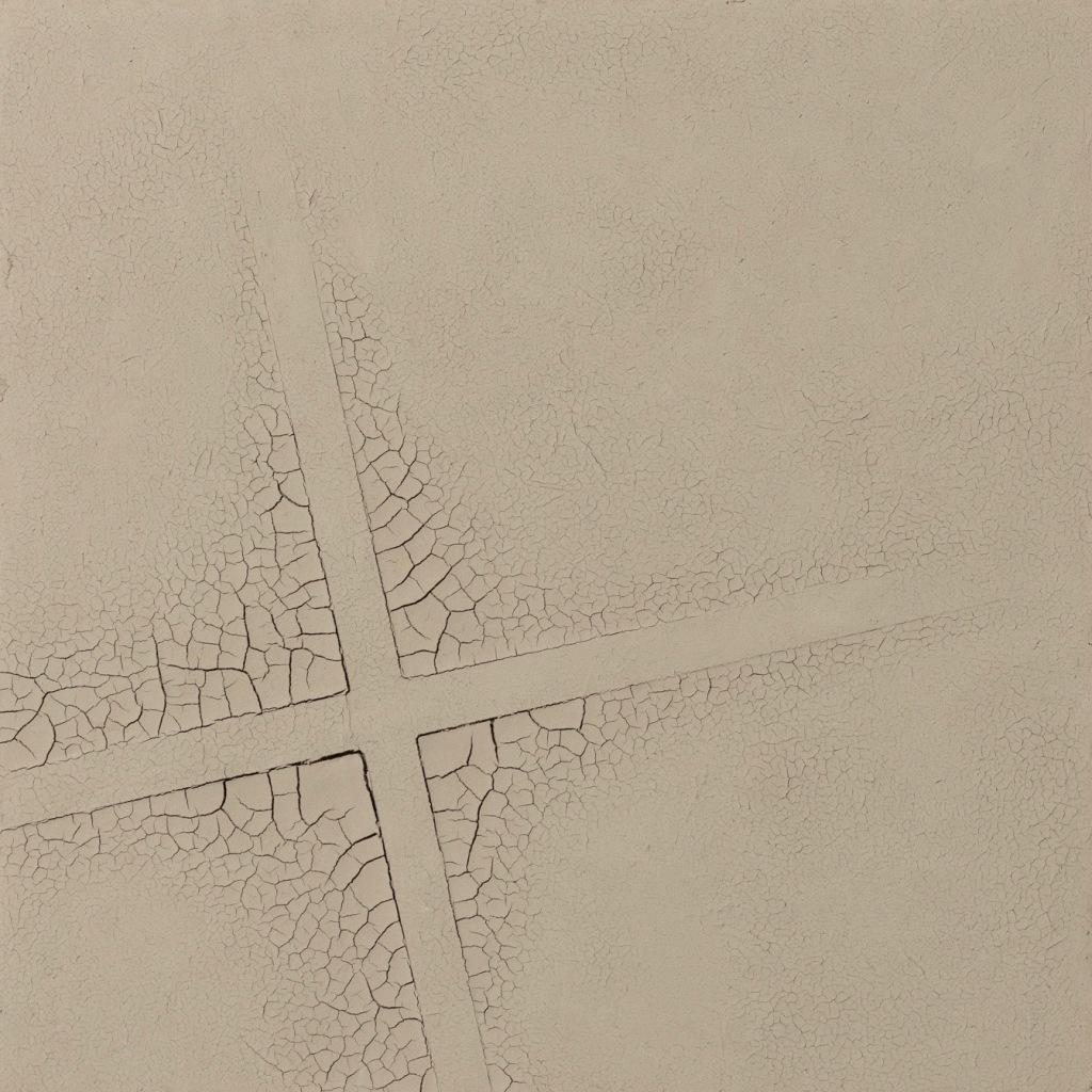 Hein van Delft, Footprints, Waddenklei en ijzerdraad op ecoboard