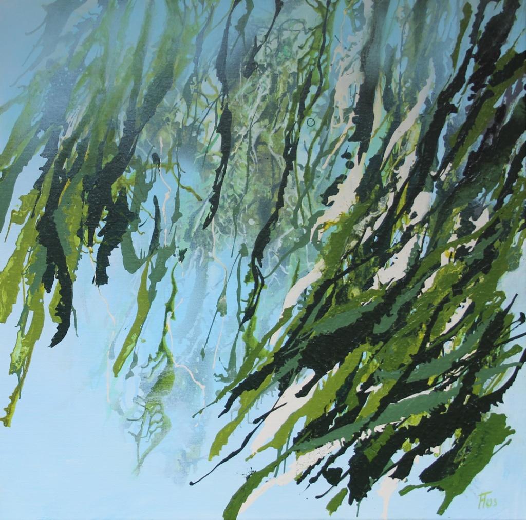 Flos Pol, Zonder titel, acrylverf op linnen, 50x50 cm