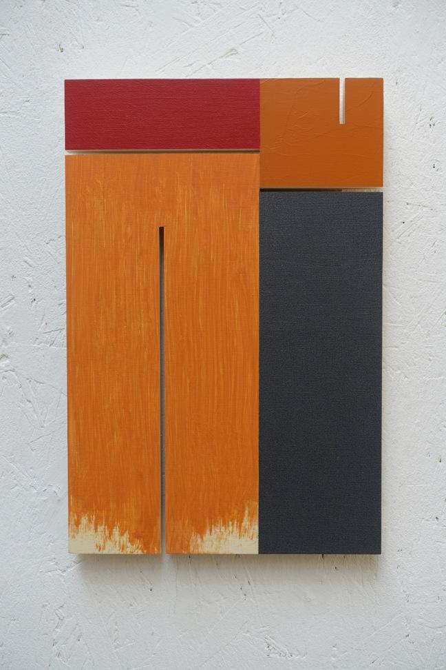 #33 Pim Piët, Two to turn (2019), acryl/hout (populier multiplex), 30×20 cm