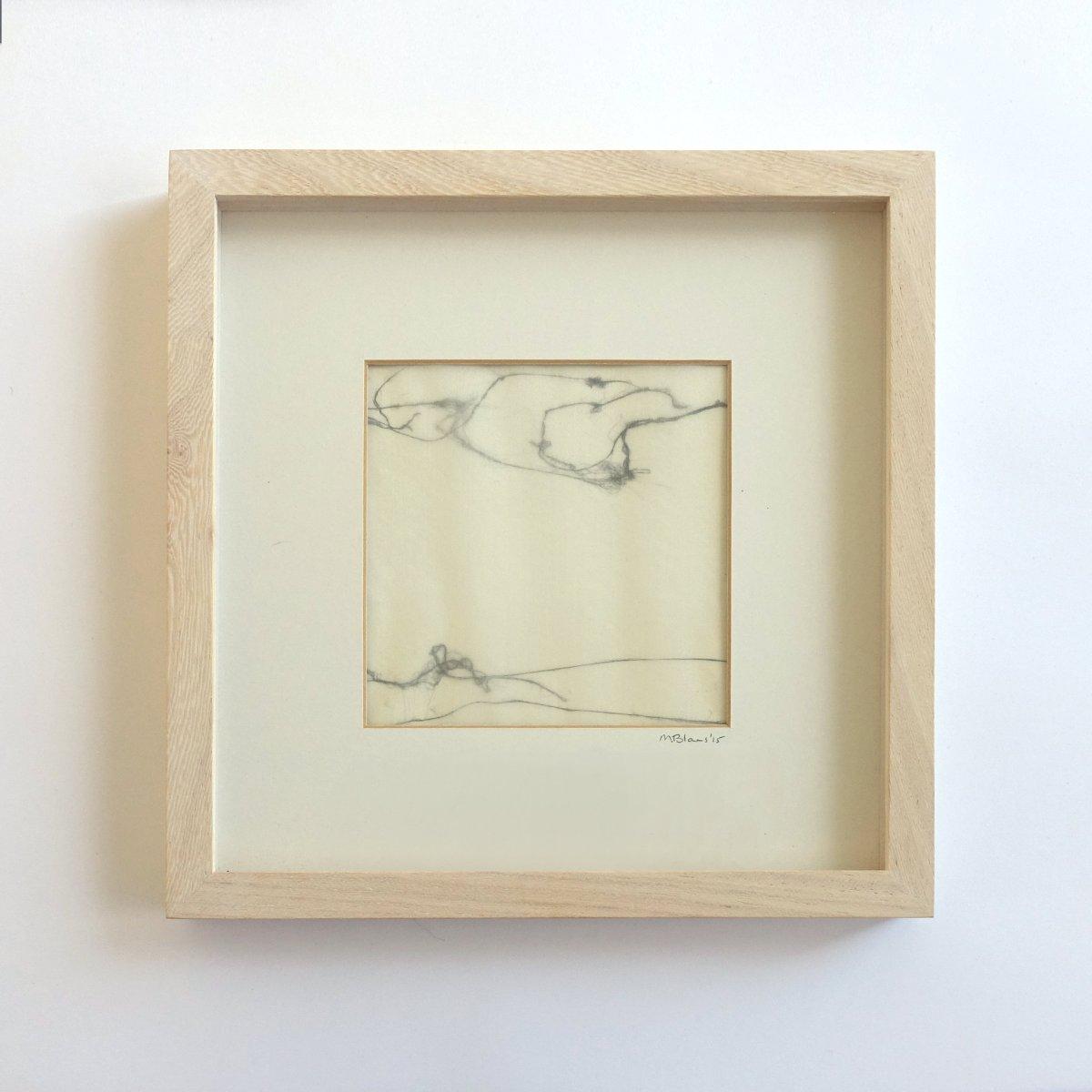 #10 Maartje Blans, Landschap, gemengde techniek op papier, 24,5 x 24,5 cm