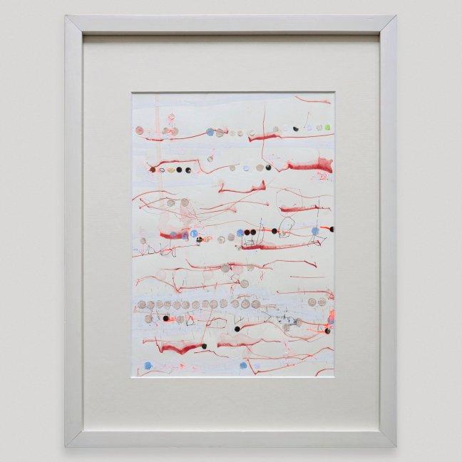 #14 Josias Scharf, Love letters 17, gemengde techniek op papier, 42,5 x 33 cm