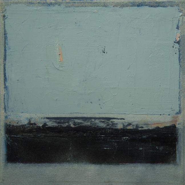 #35 Vladica Ristic, Composition, gemengde techniek op doek, 20×20 cm