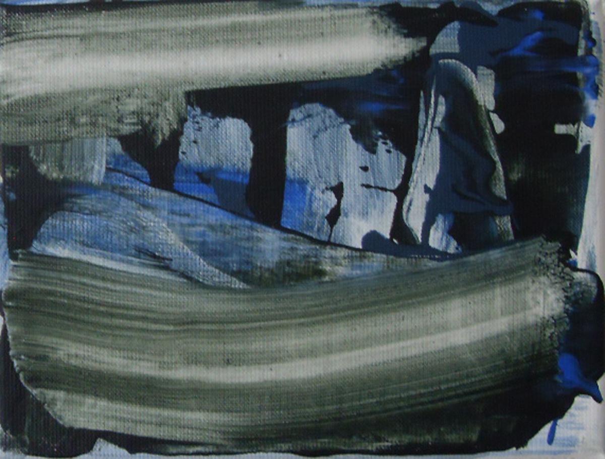 Nies de Vuijst, zonder titel, acryl op linnen, 18x24 cm