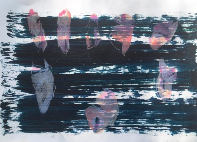 #64 Tanja Isbarn, fake study, olieverf en kleurpotlood op papier, 28,5x20,5 cm, 2020