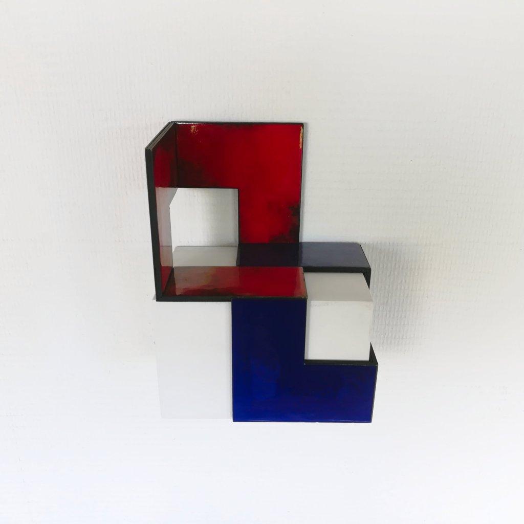 #59 Henk Rusman, Dualis II, r.v.s./koper/emailleer, 20x15x10 cm, nr. 2 van 2, 2016
