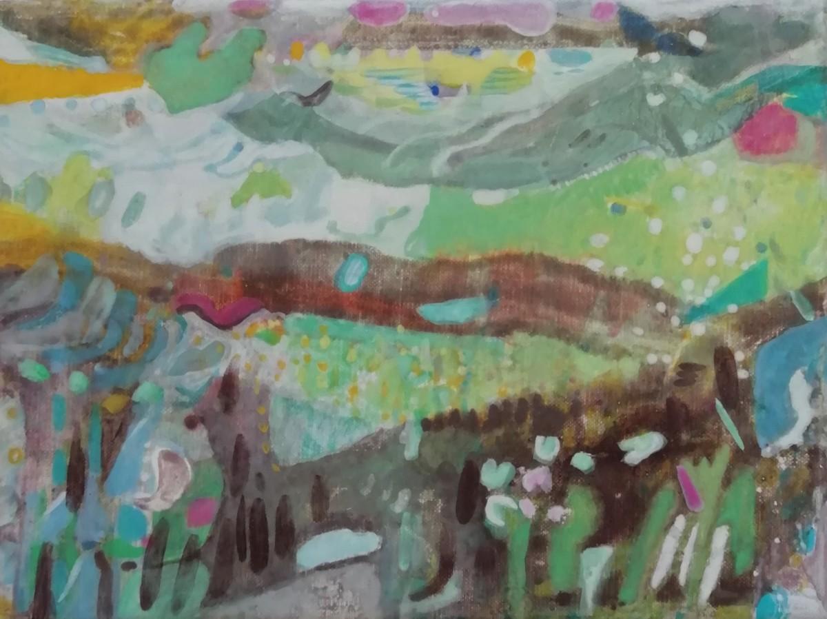 Ilse Brul, Hoornsedijk, ei-tempera op linnen, 18x24 cm