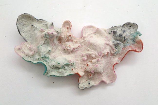 #63 Maryan Geluk, Gletsjer, wol, punchen, 20x40x4 cm